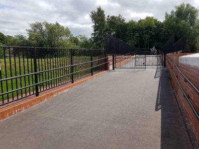 Alpha Rail Pedestrian Parapet Guardrail at Selly Park