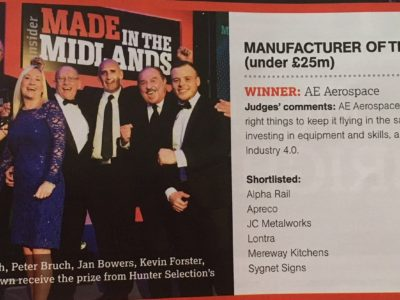 Alpha Rail shortlisted for Made in Midlands Awards