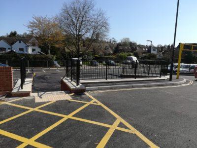 Metal railings installed at Bewdley Car Park
