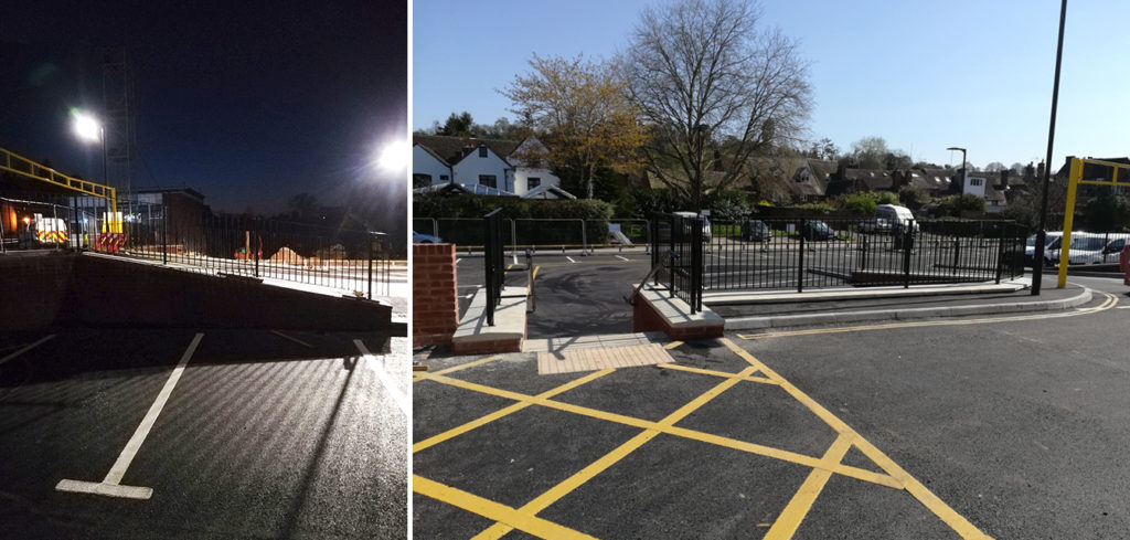 Metal railings installed at Bewdley Car Park