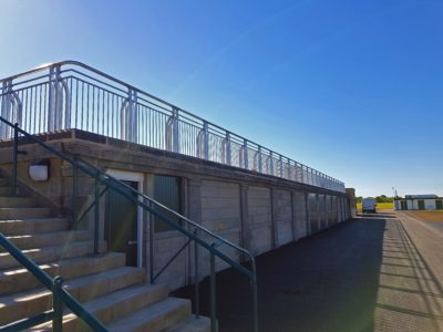 Galvanised steel balustrades at York Racecourse