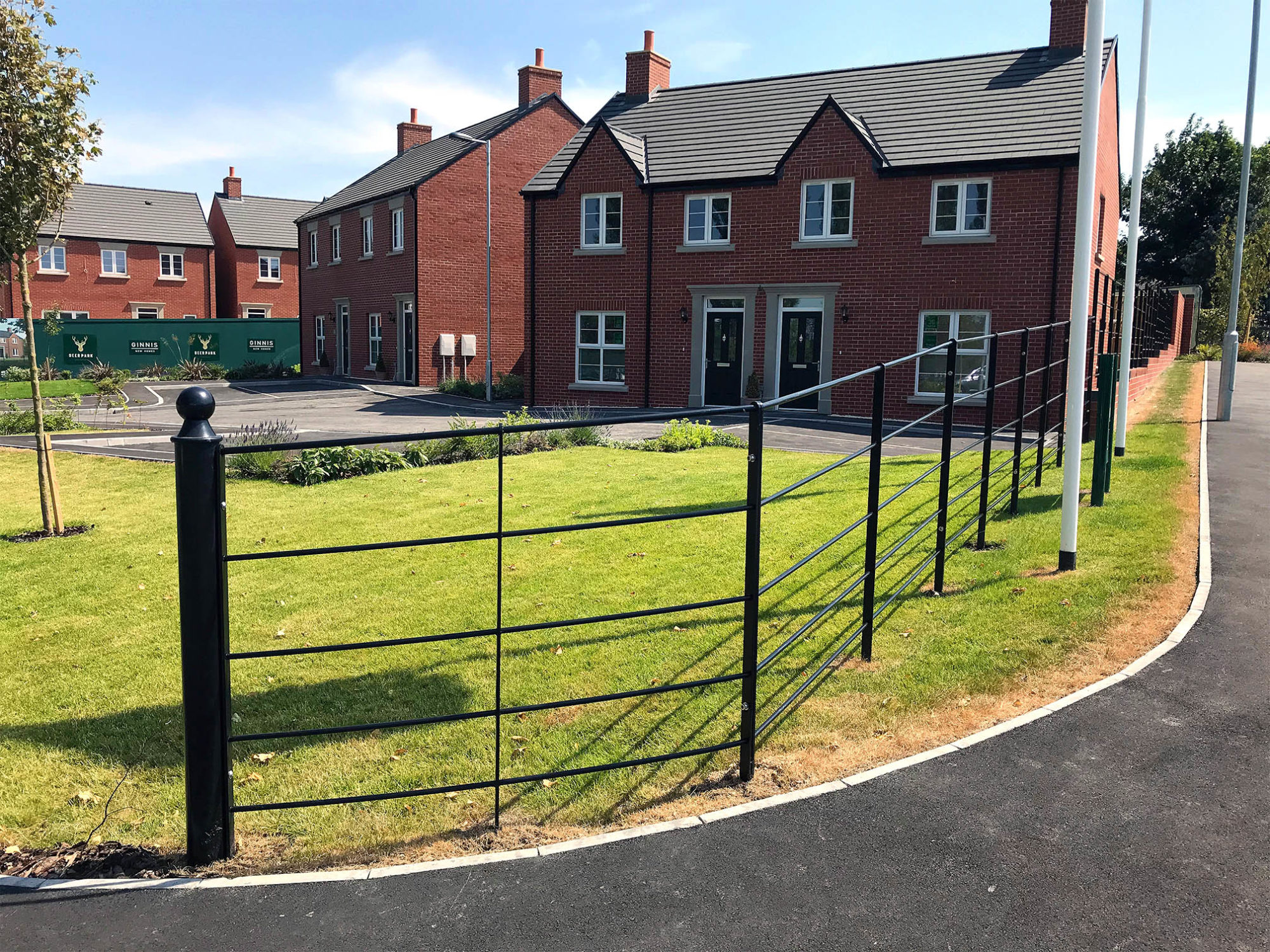 Estate Rail Fencing installed at Deer Park development