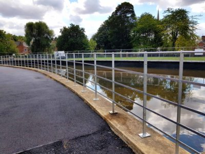 Welded estate rail installed at Wyndham Park