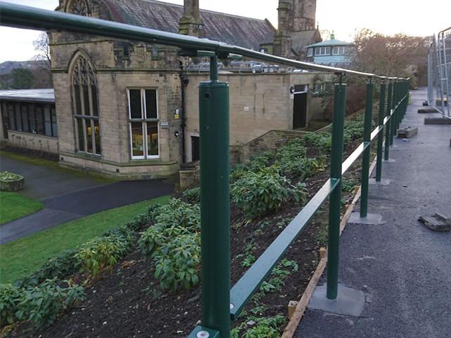 cliffe castle metal railings balustrade