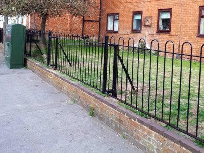 Bow top railings at Allison Court