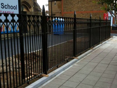 Gothic style metal railings
