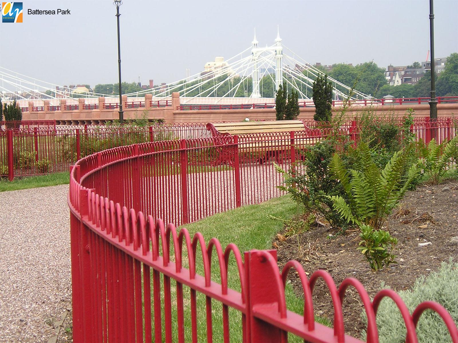 Bespoke metal railings for parks