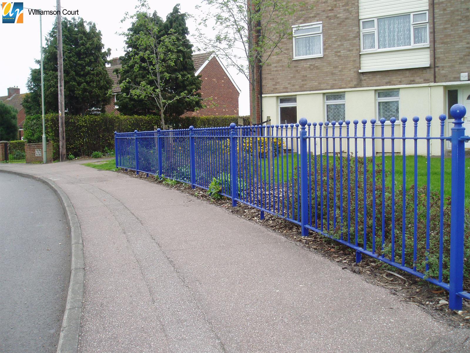Metal railings for housing estates