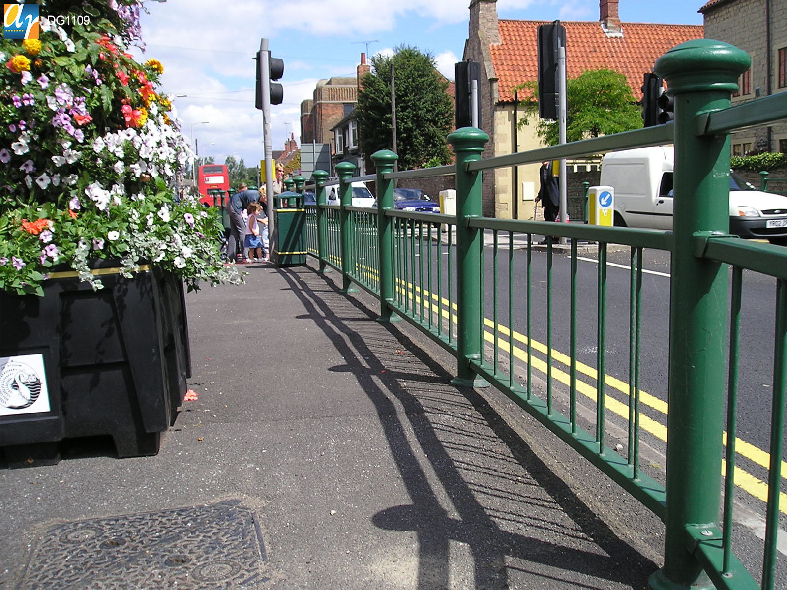 Decorative pedestrian guardrail