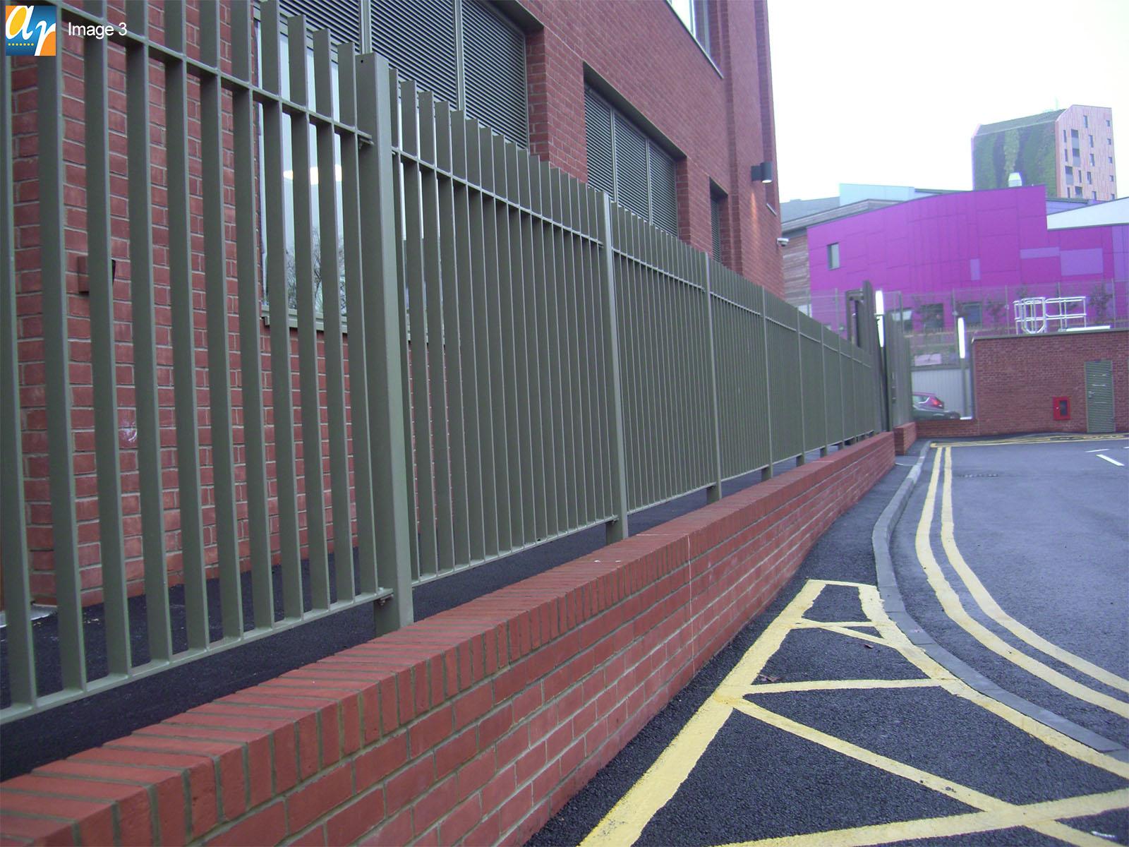 Flat infill bar railings