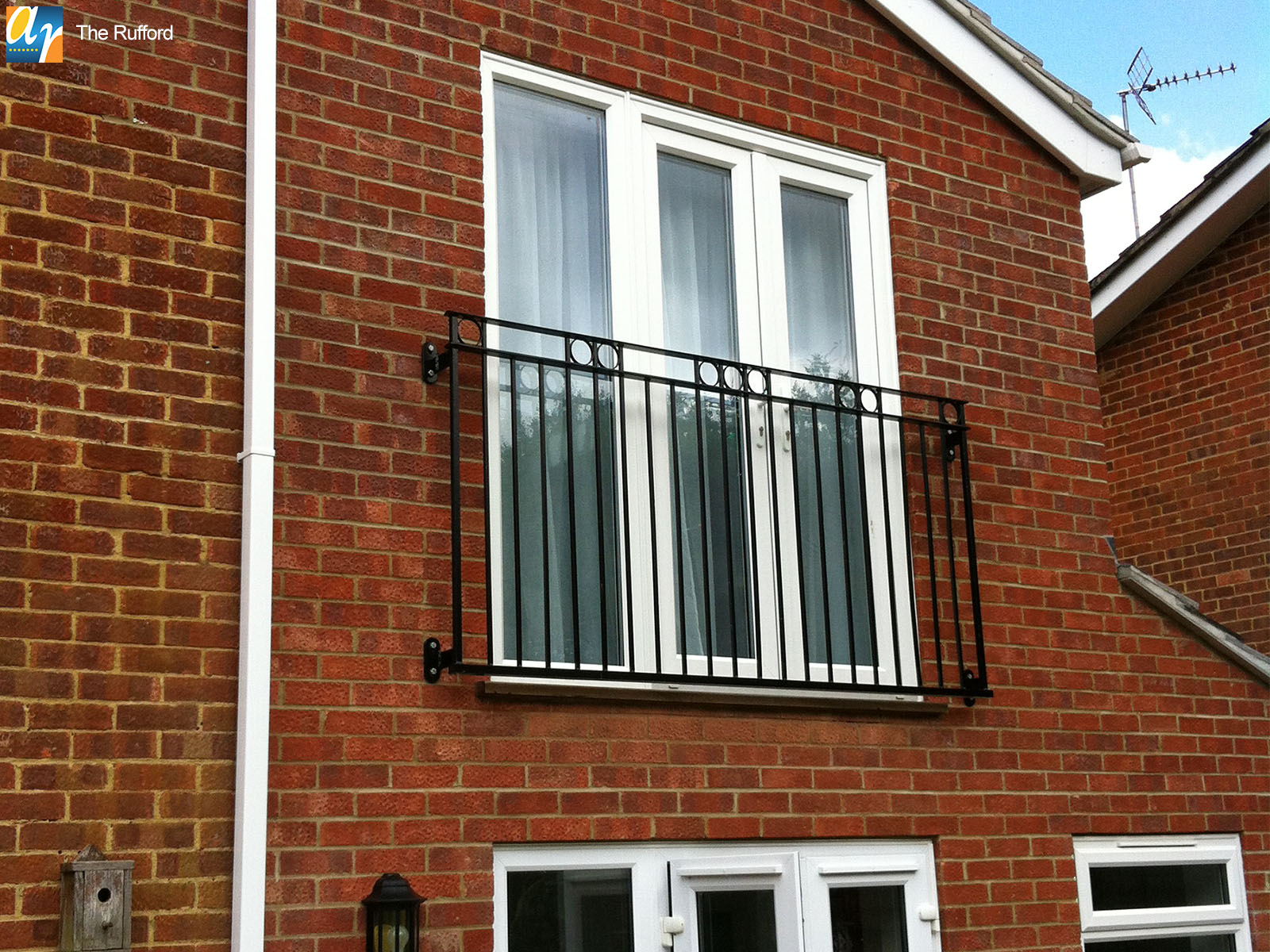 Galvanised and polyester powder coated Juliette balcony
