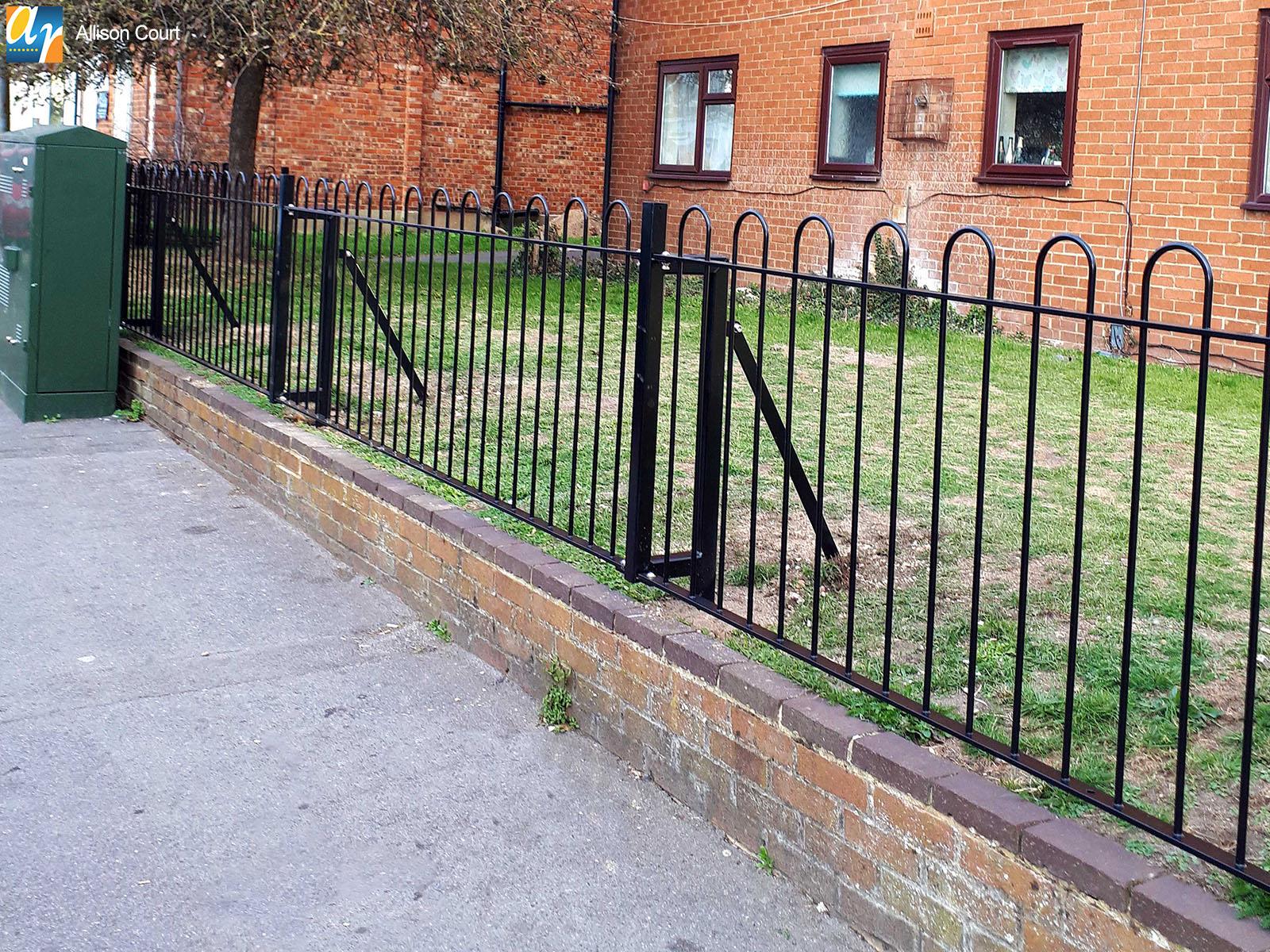 Metal railings for residential areas