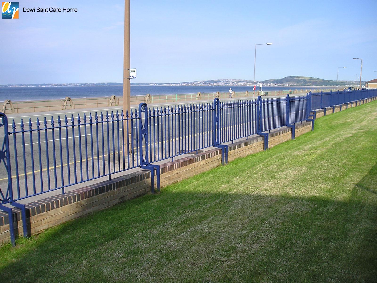 Metal railings for care homes