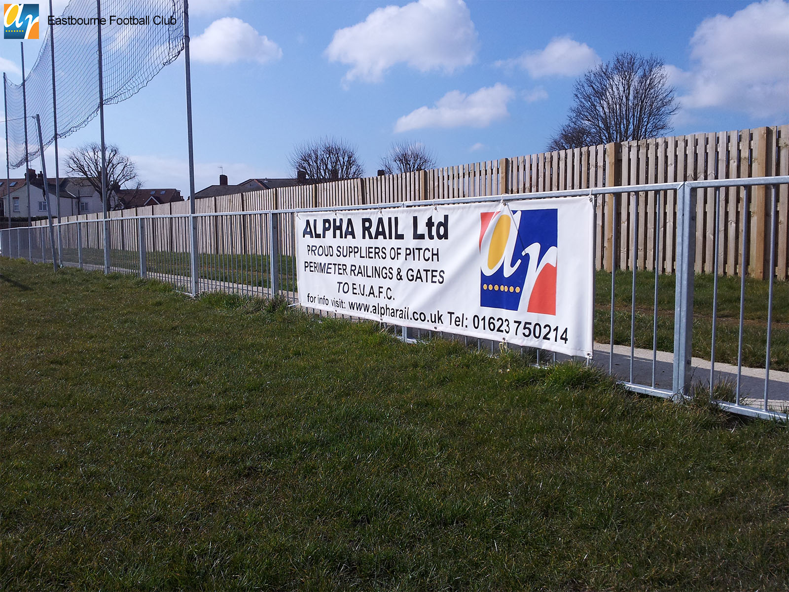 Metal sports pitch barrier