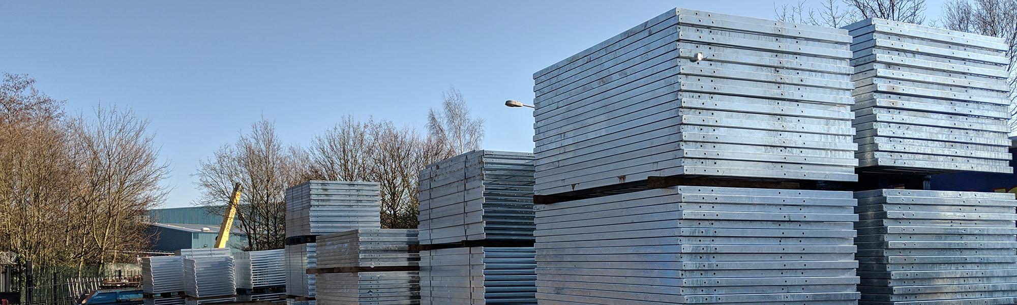 Pedestrian guardrail in stock