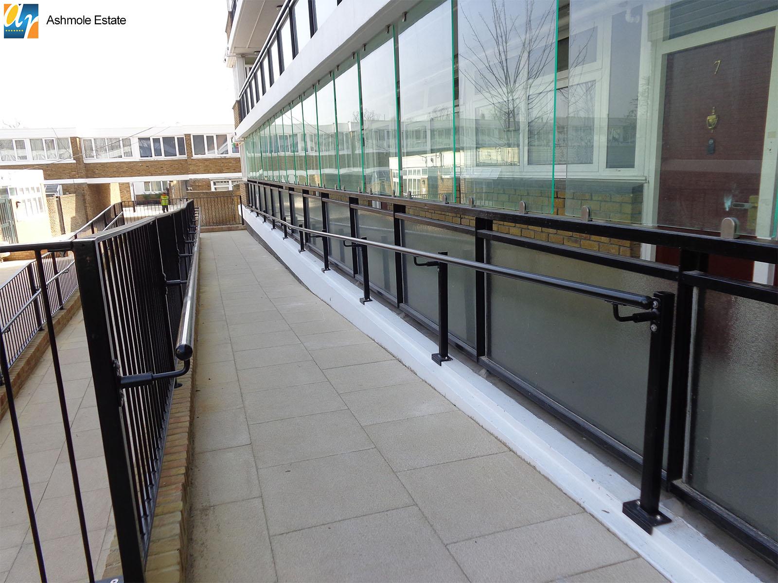 Ashmole Estate balustrade