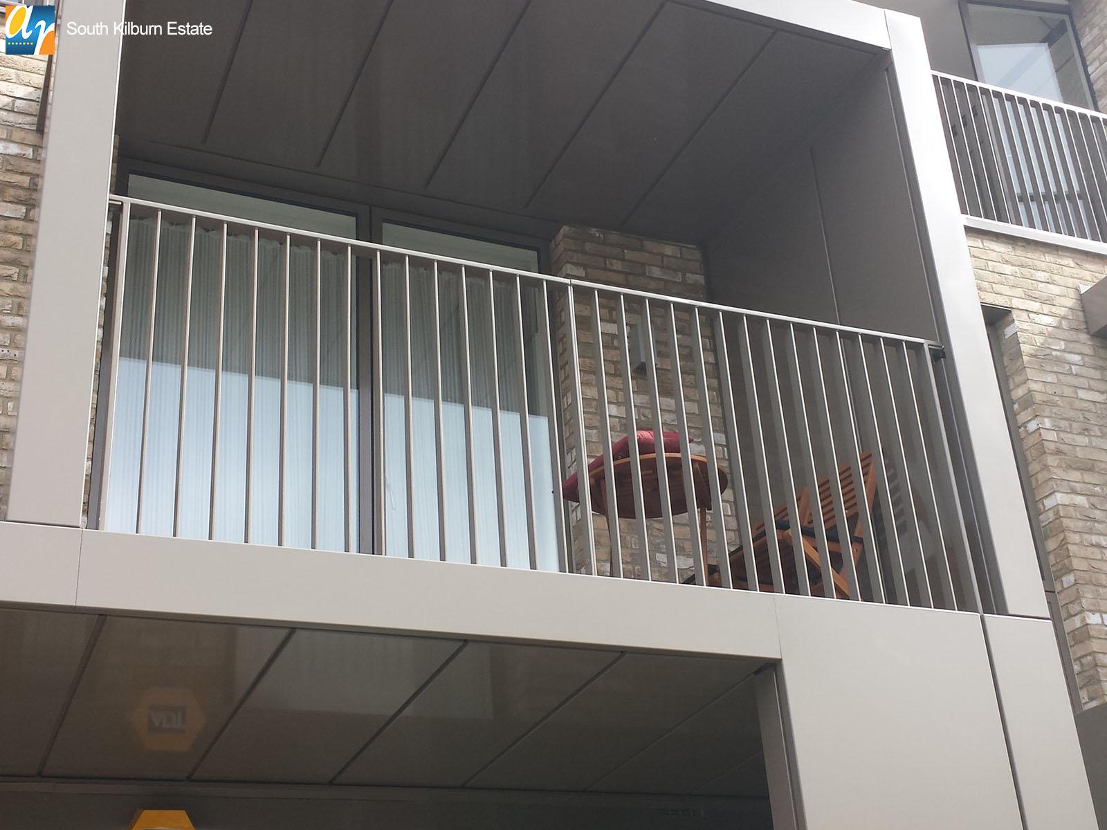South Kilburn Estate metal balustrade
