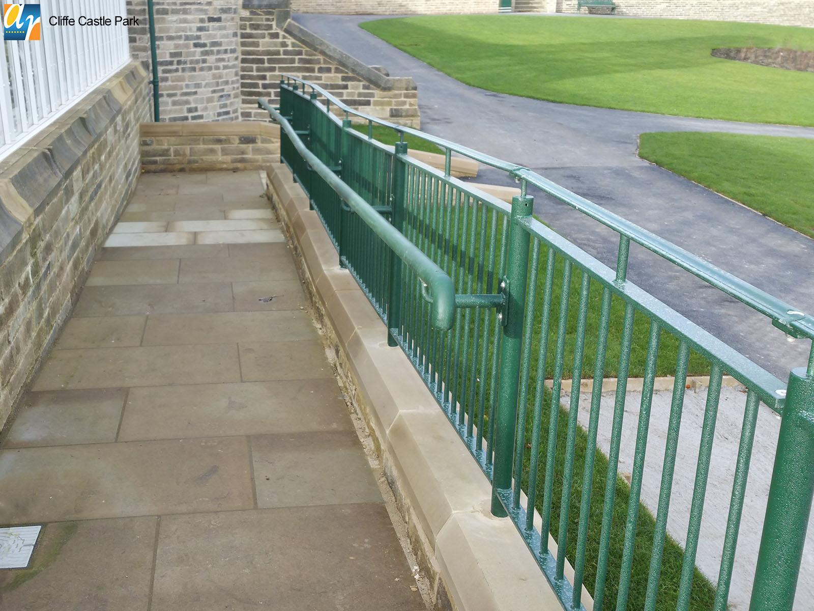 Cliffe Castle Park balustrade