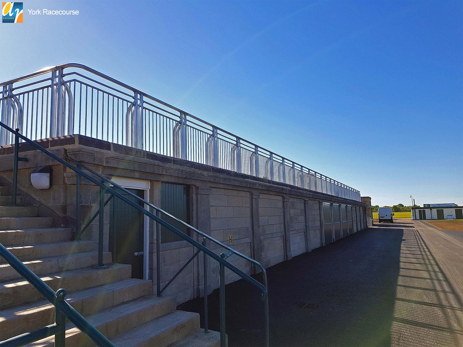York Racecource bespoke metal balustrade