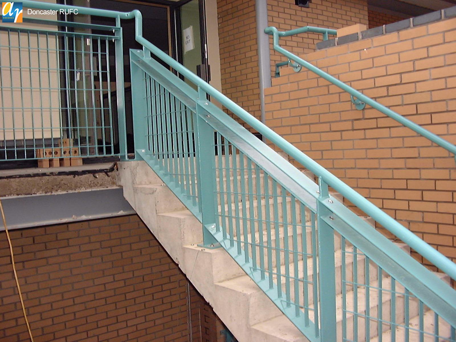 Doncaster RUFC metal balustrade