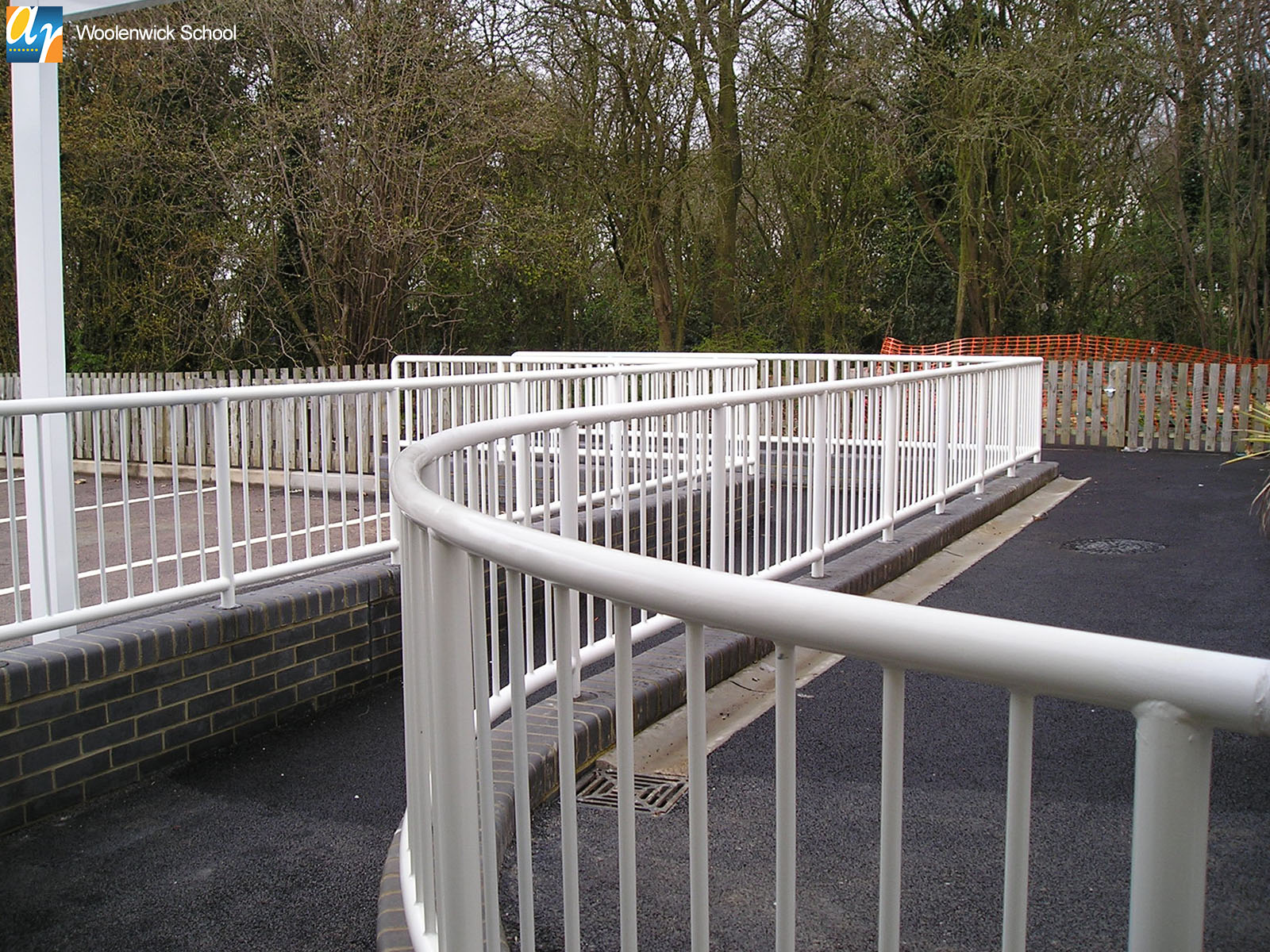 Woolenwick school bespoke metal balustrade