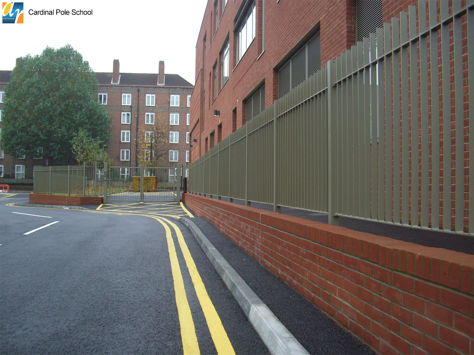 Cardinal Pole School flat bar infill railings