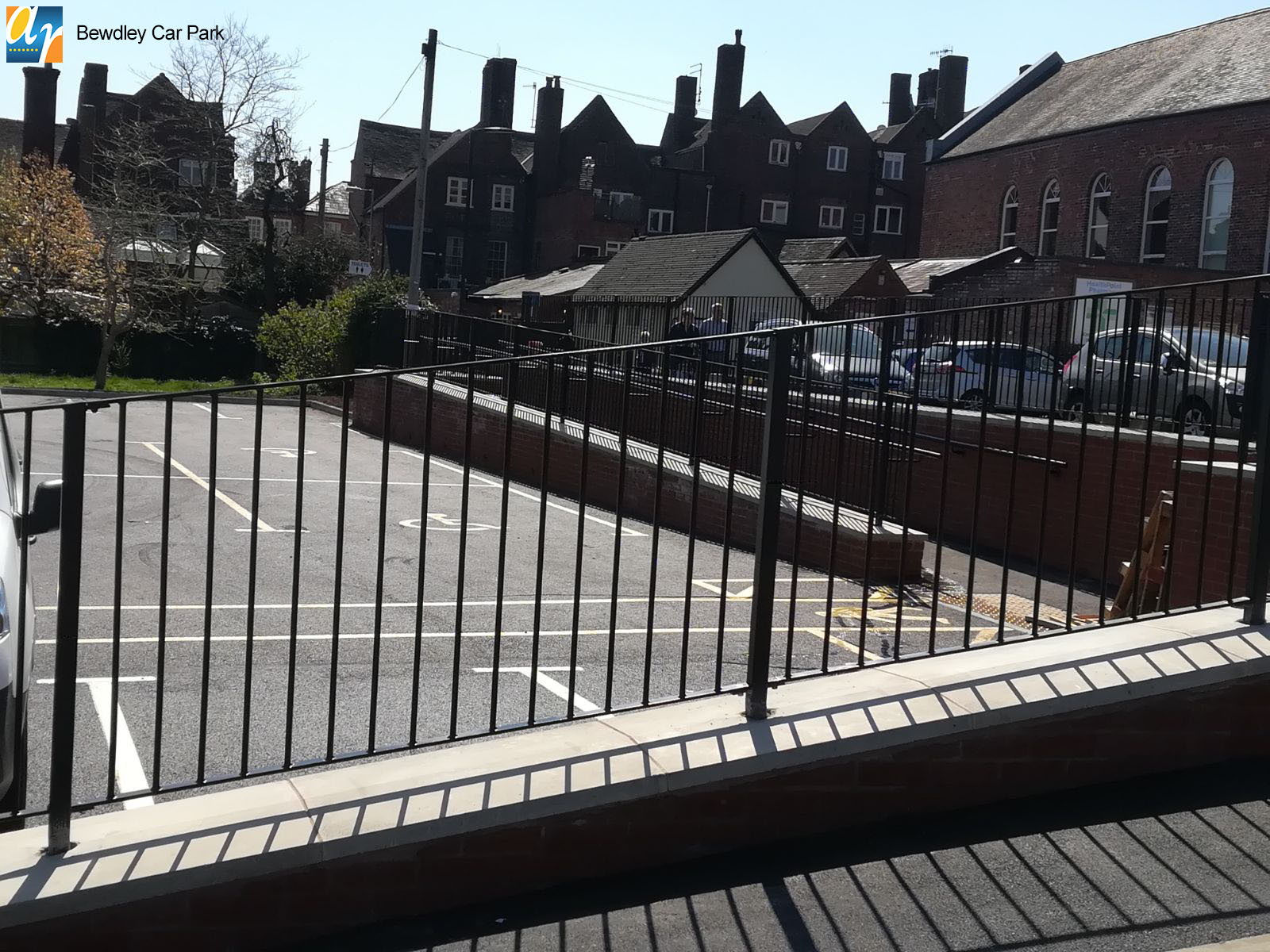 Bewdley Car Park Flat Top metal railings