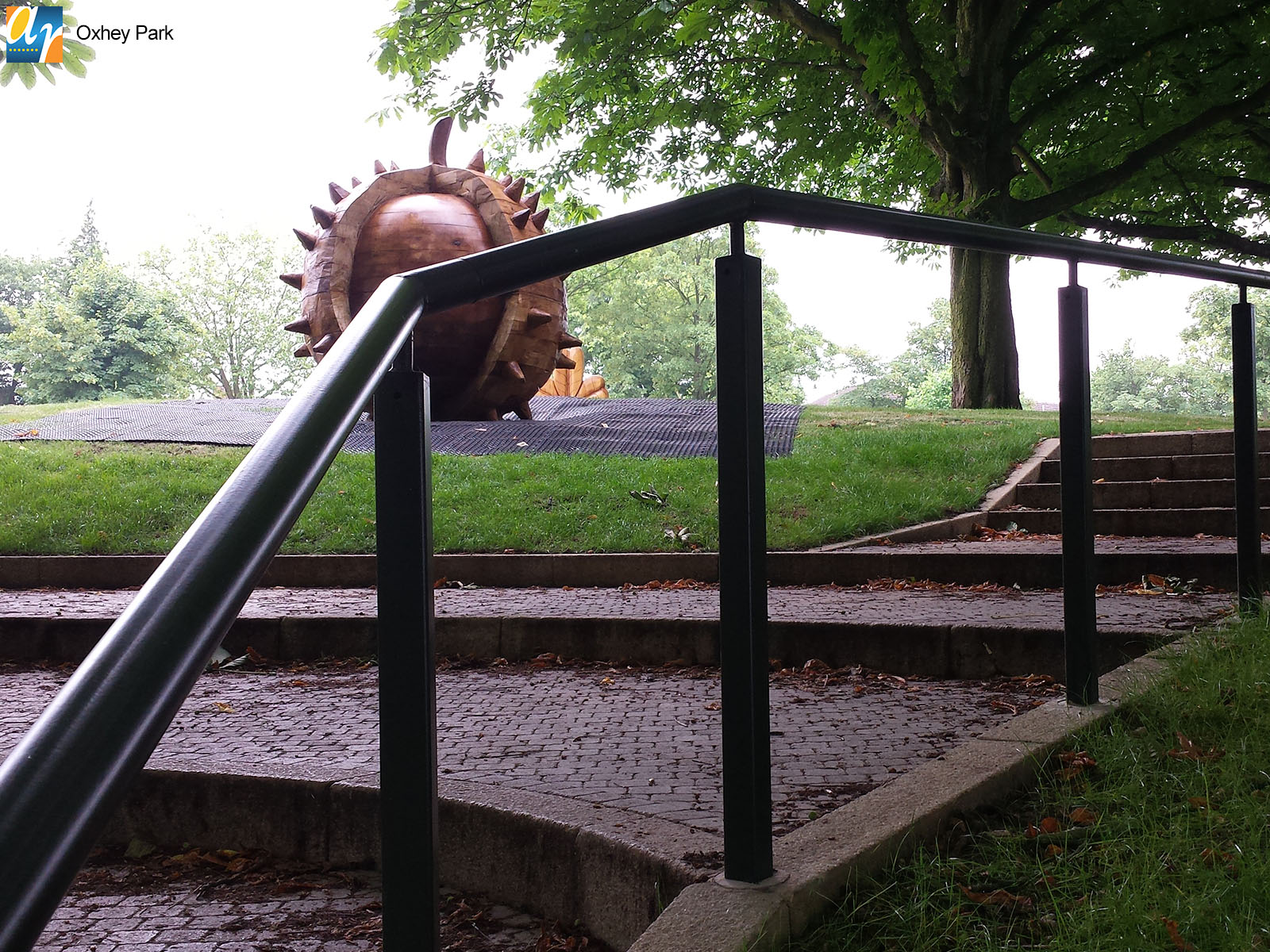 Oxhey Park metal handrail