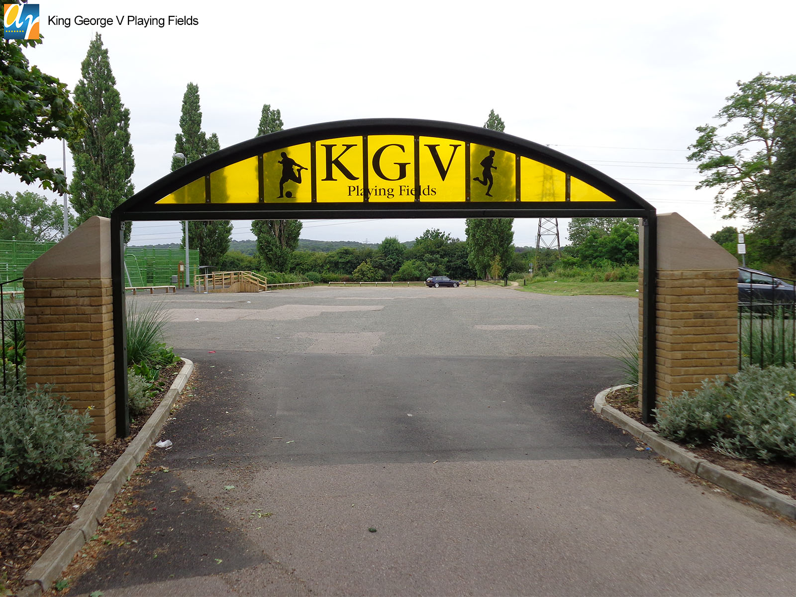 King George V Playing fields metal archway
