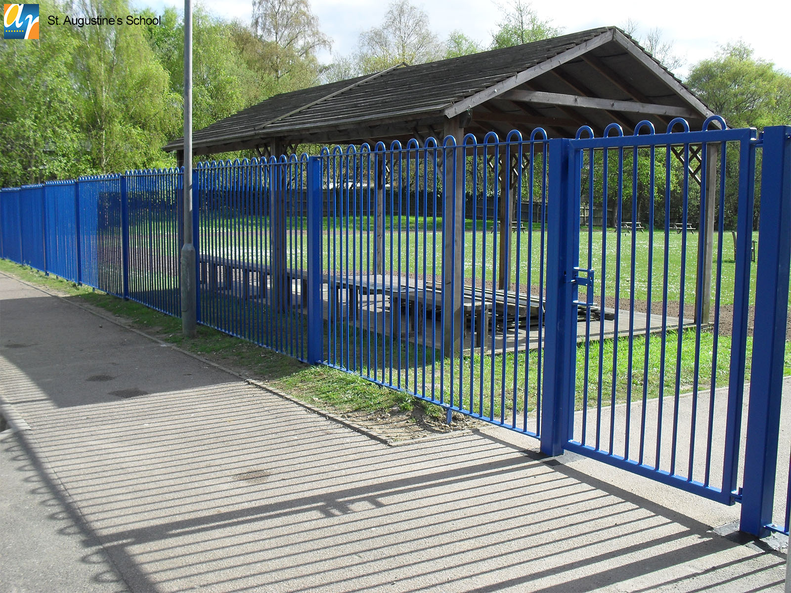 St. Augustine's School Playspec bow top railings