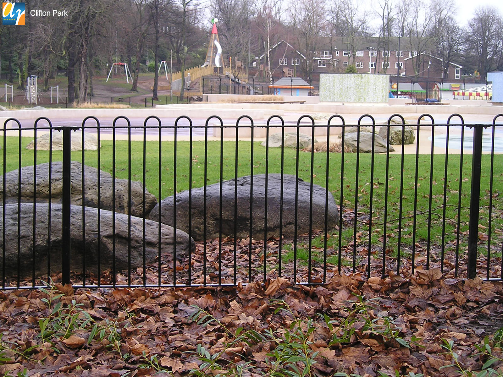 Clifton Park Playspec bow top railings