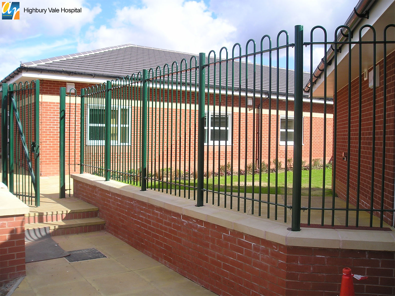 Highbury Vale Hospital standard bow top railings