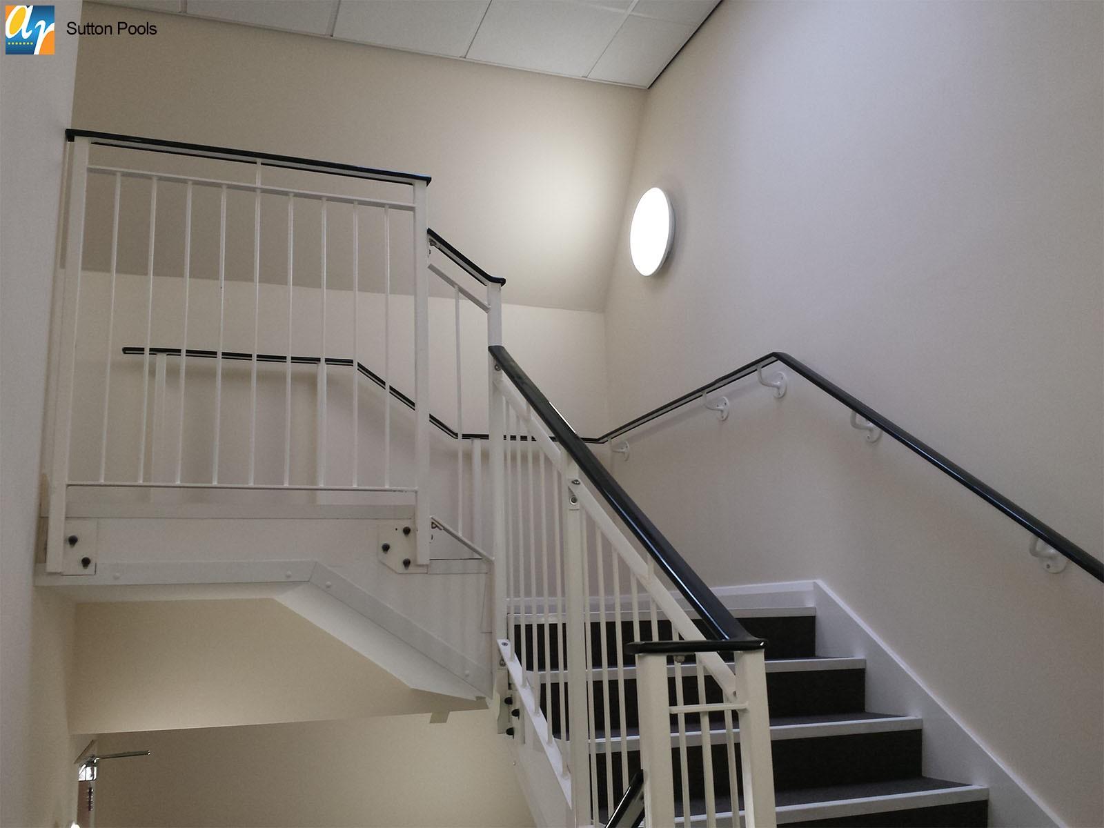 Sutton pools stair railings