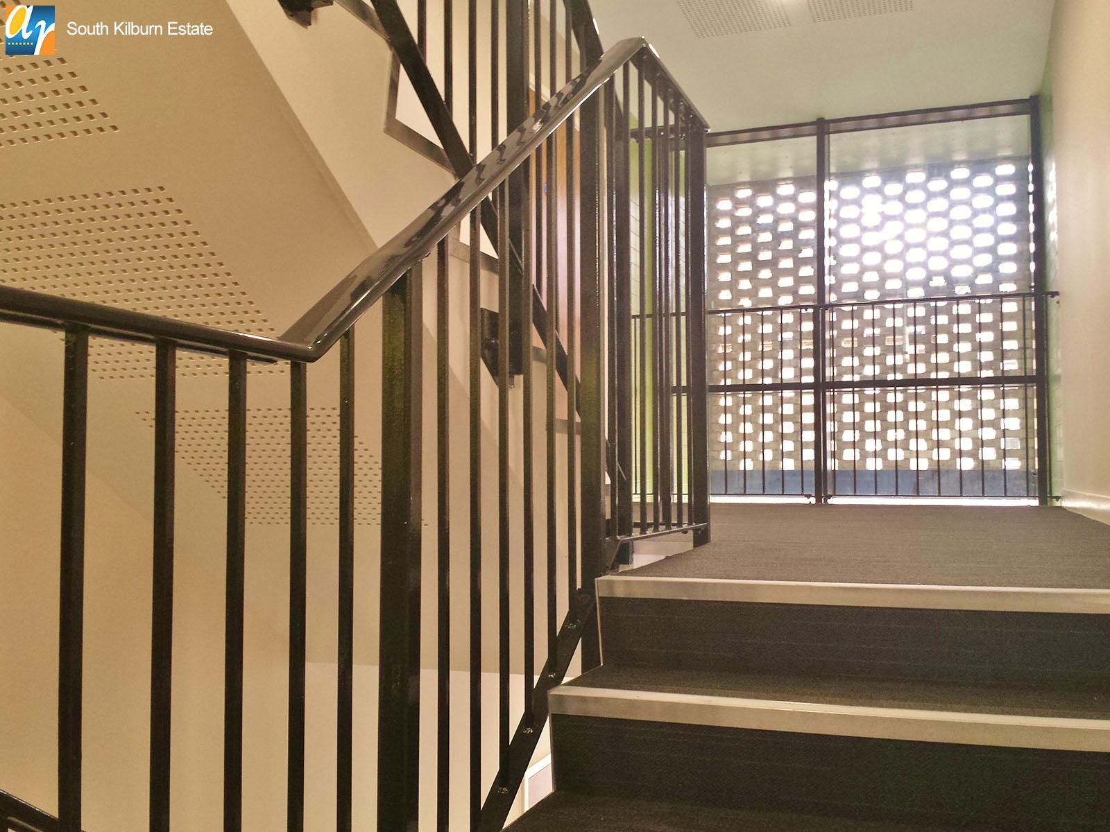 South Kilburn estate metal railings