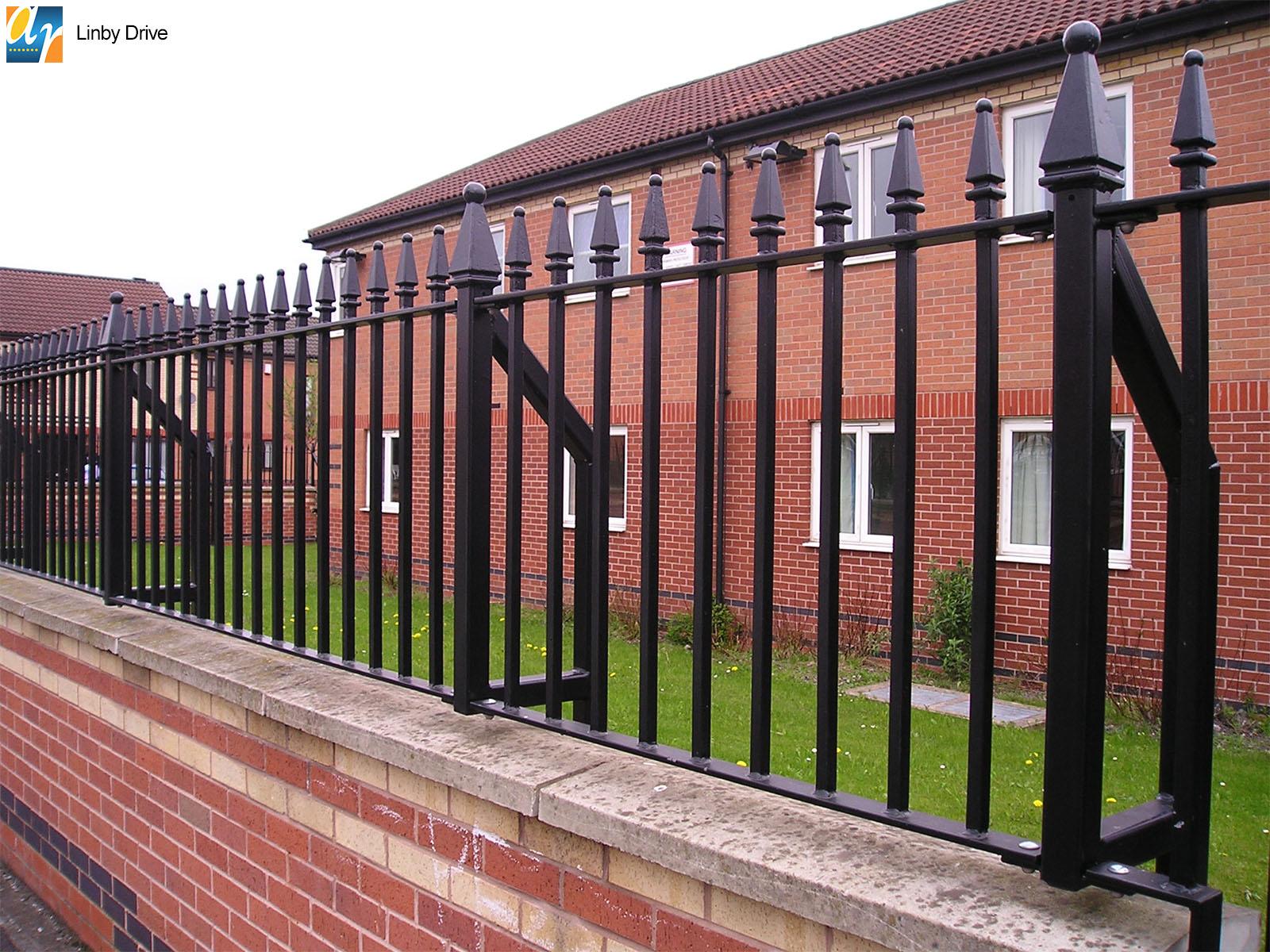 Linby Drive churchill vertical bar railings