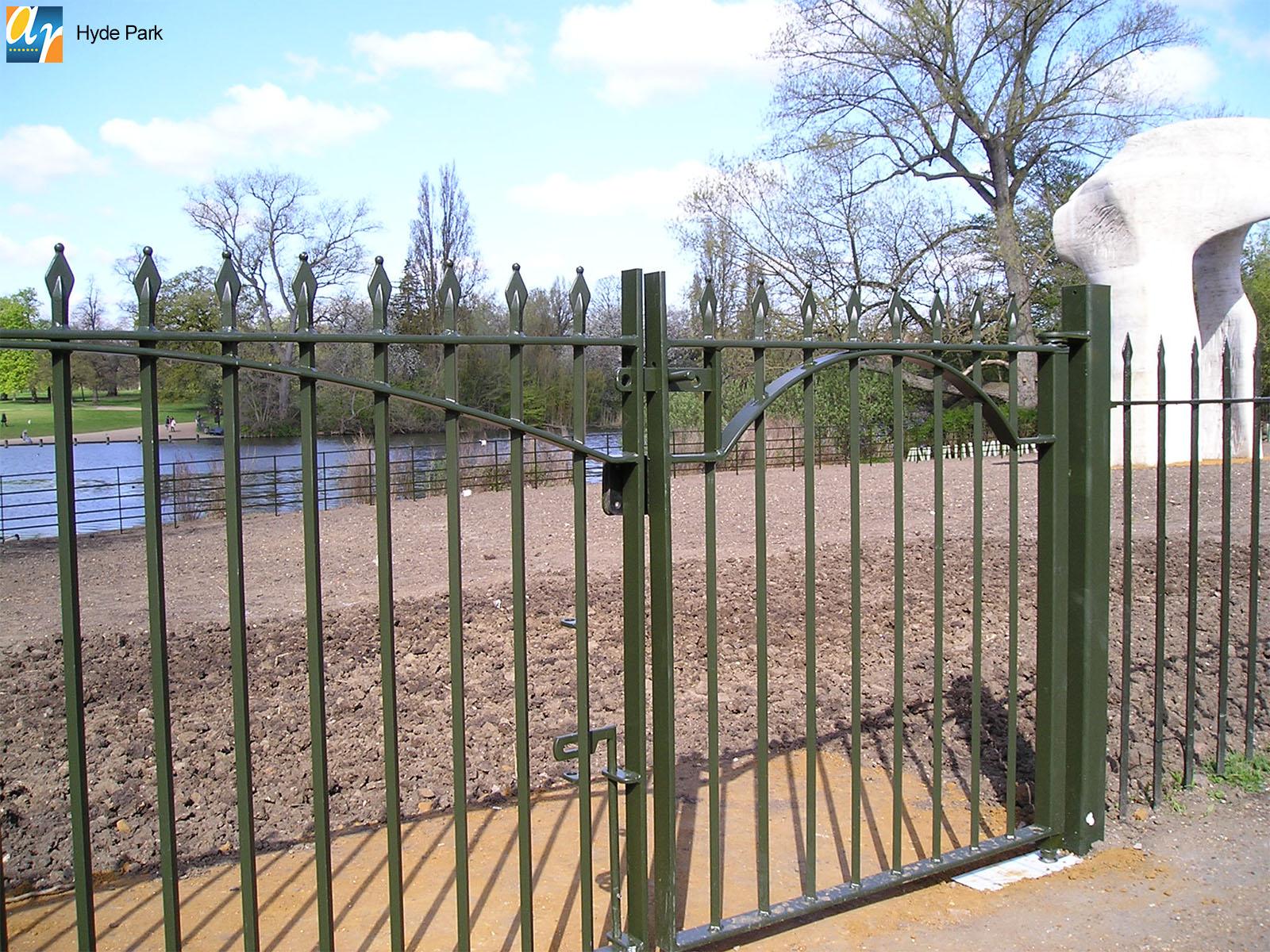 Hyde Park metal gate
