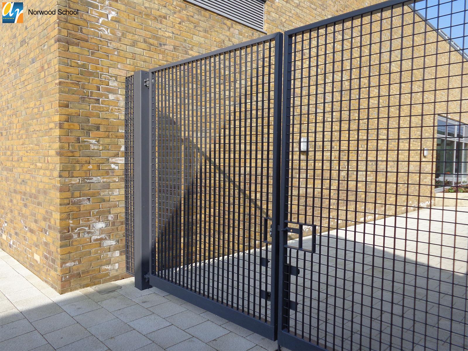 Norwood school metal railings