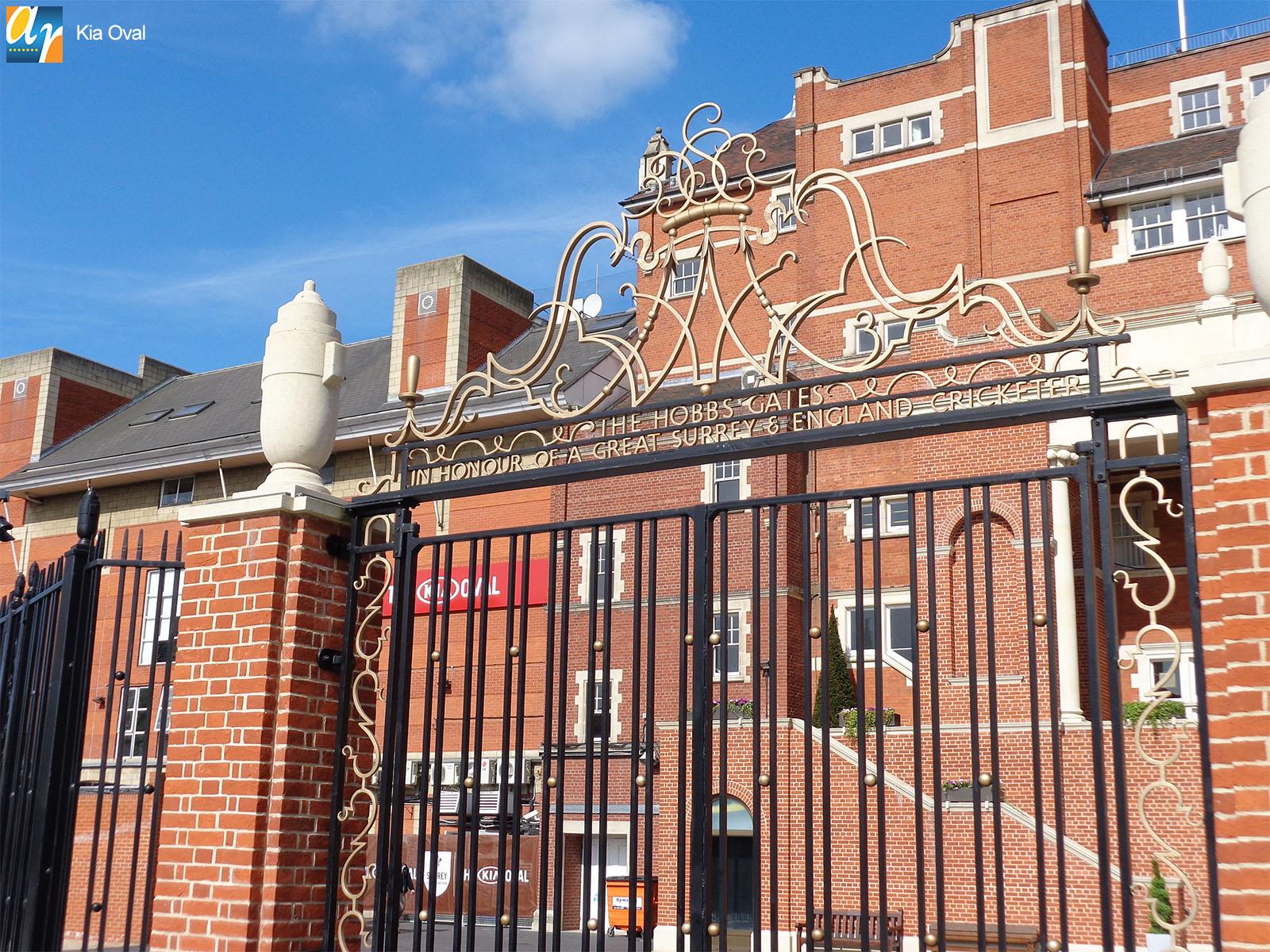 Kia Oval Cricket ground Jack Hobbs gates