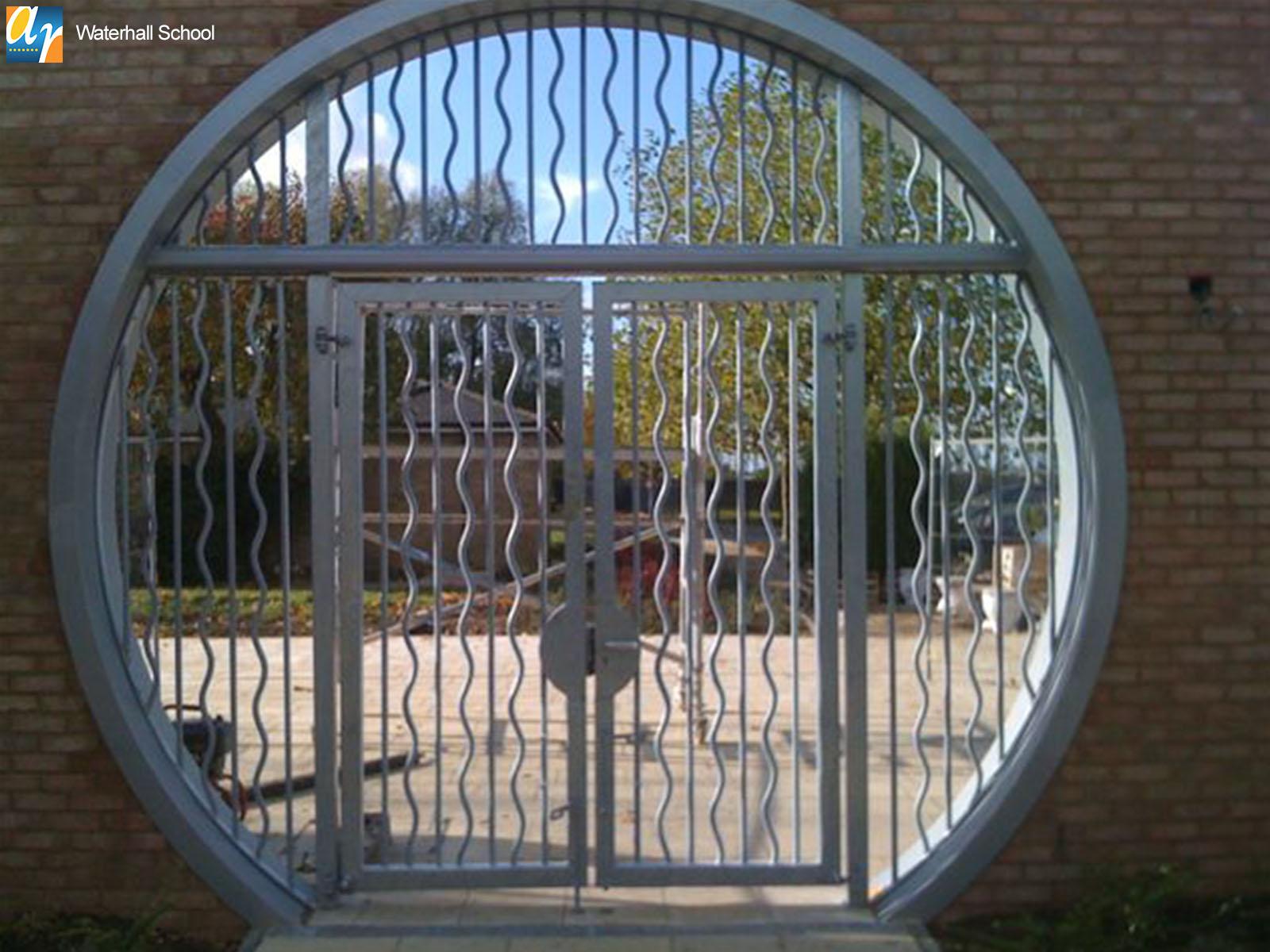 Waterhall School metal gates