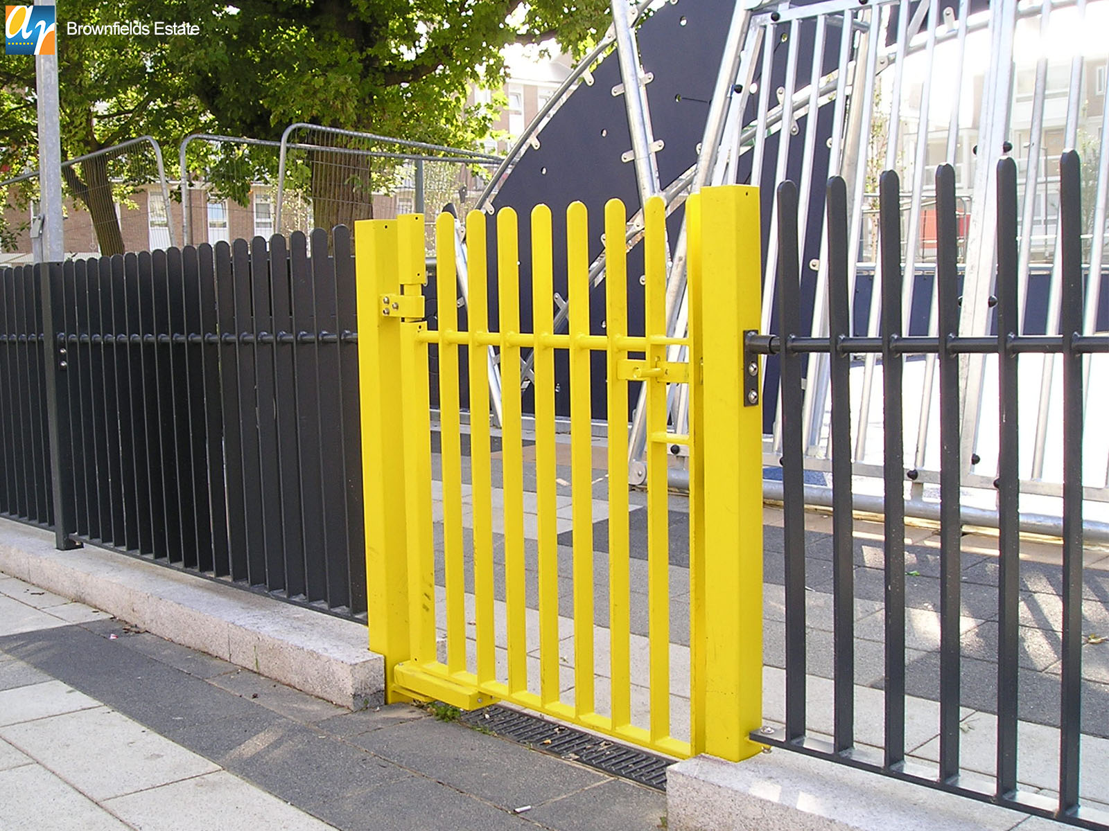 Brownfields estate metal gates