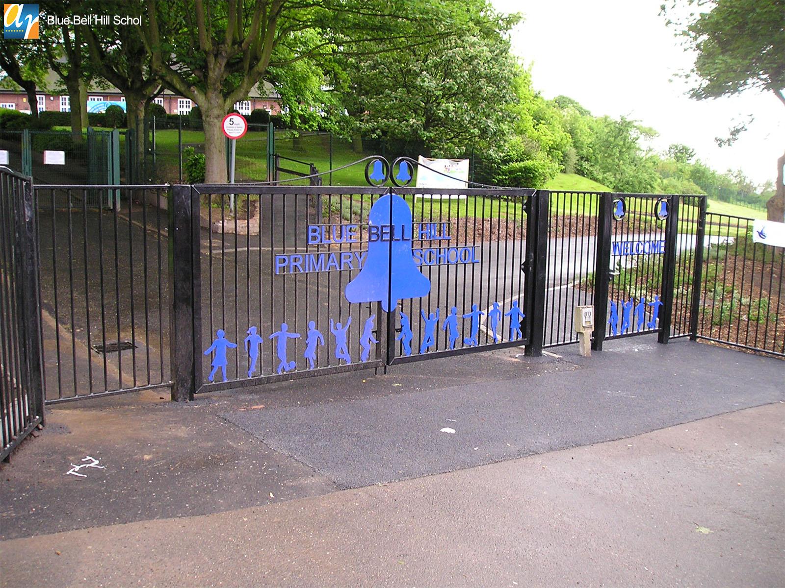 Blue Bell school metal gates