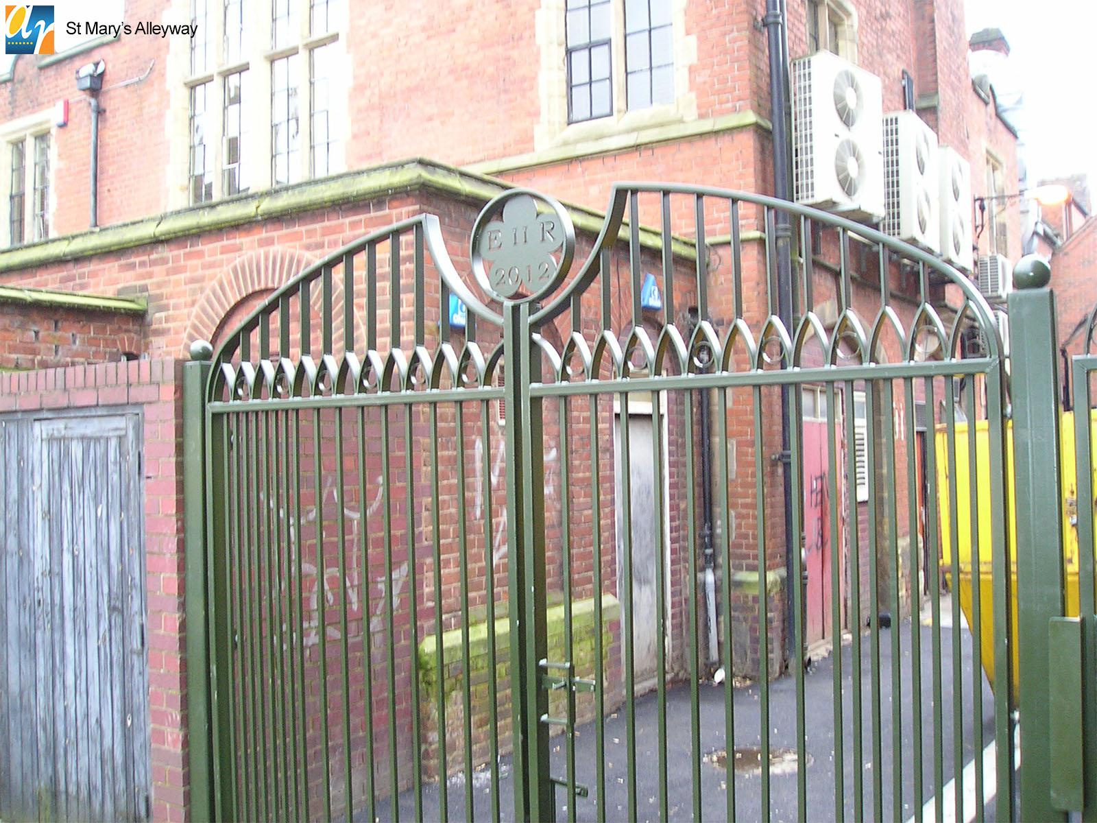 St. Mary's Alleyway metal gate