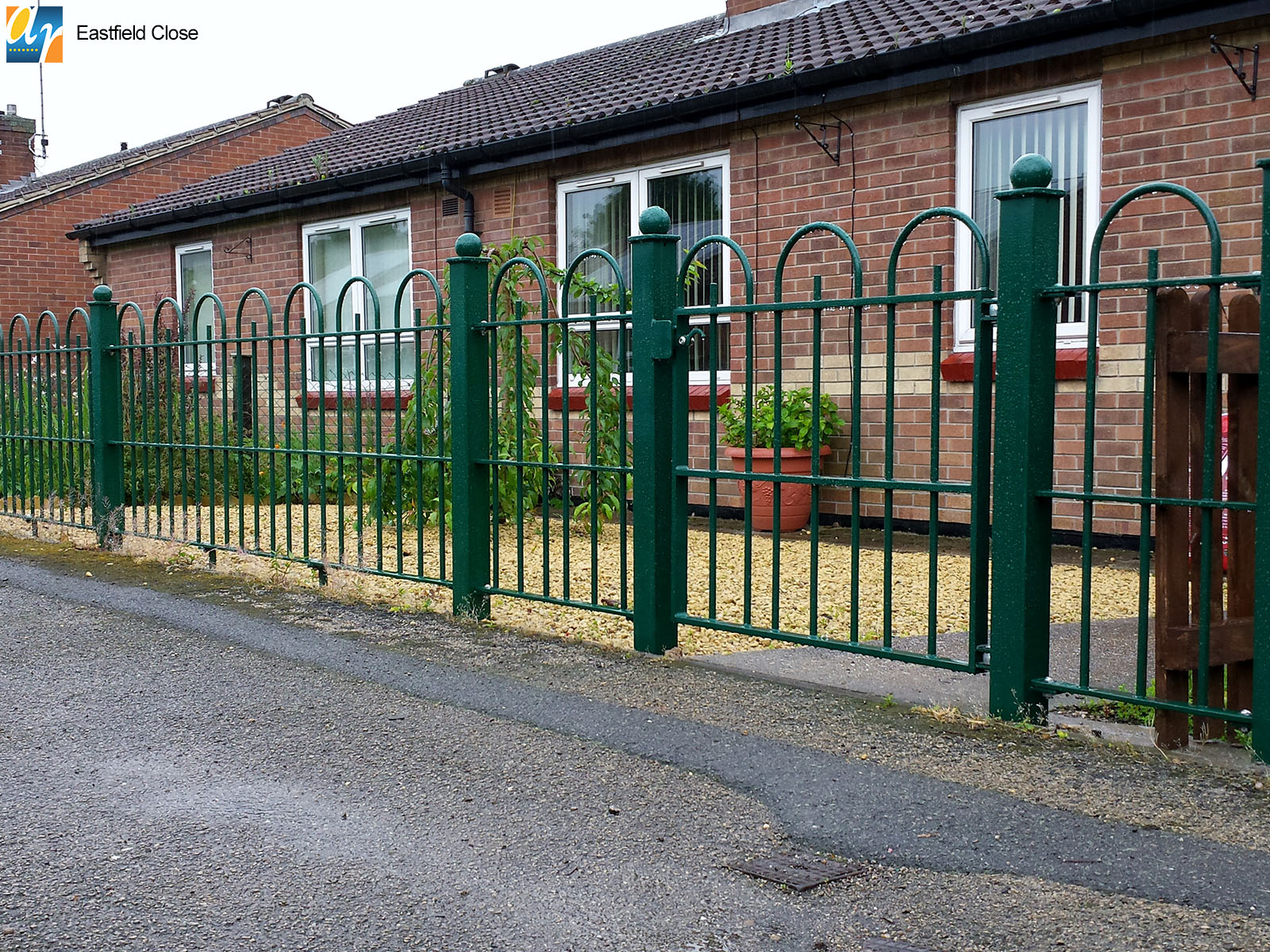Eastfield Close metal railings and gates