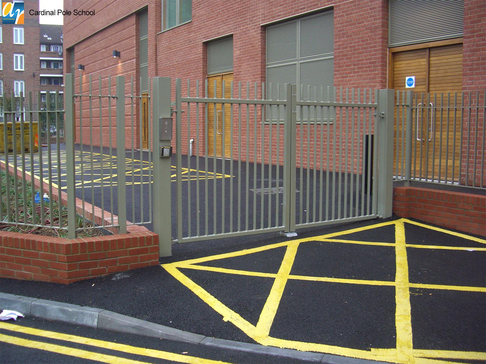 Cardinal Pole School metal gates