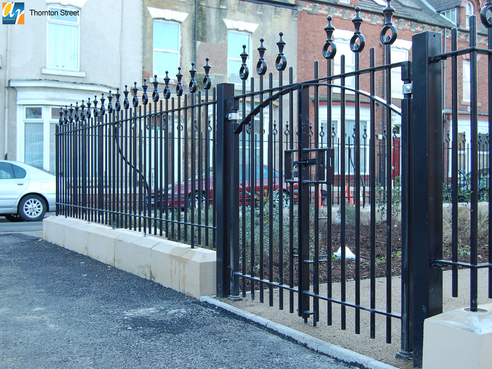 Thornton Street metal gates