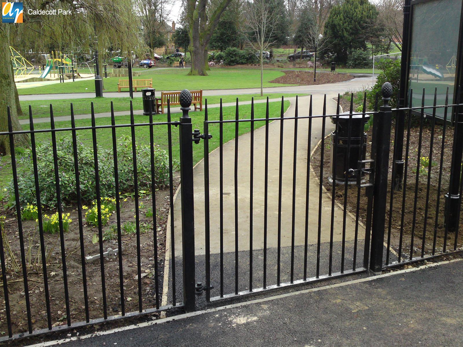 Caldecott Park metal gates