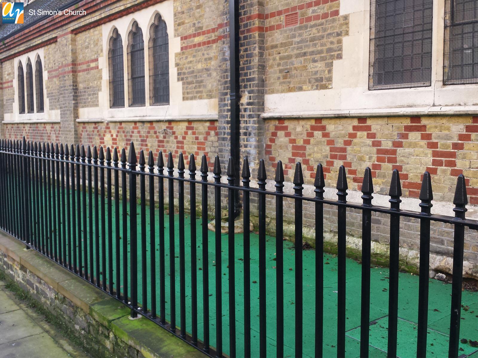 St. Simon's Church Kennington metal railings