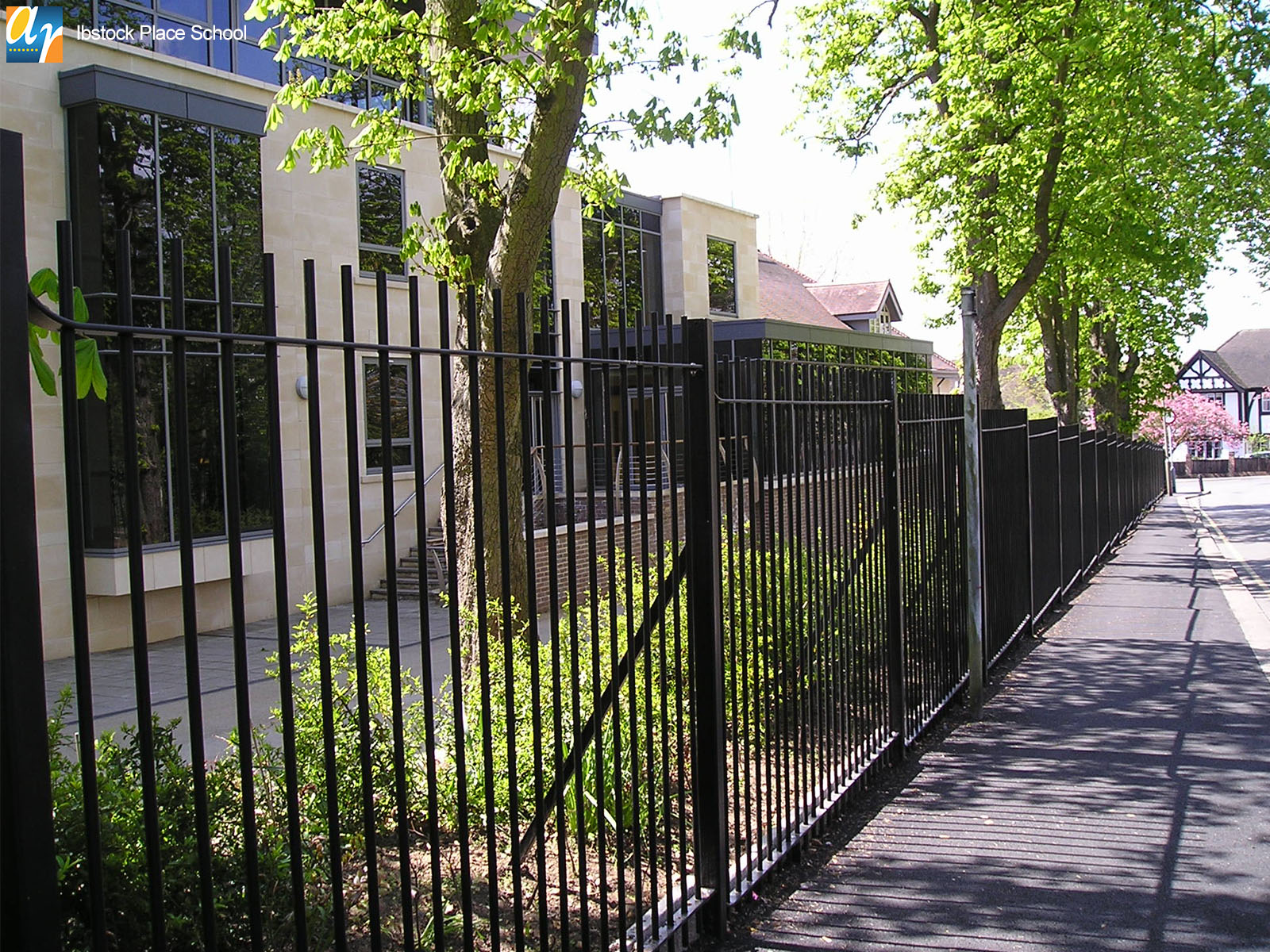 Ibstock Place school vertical bar railings
