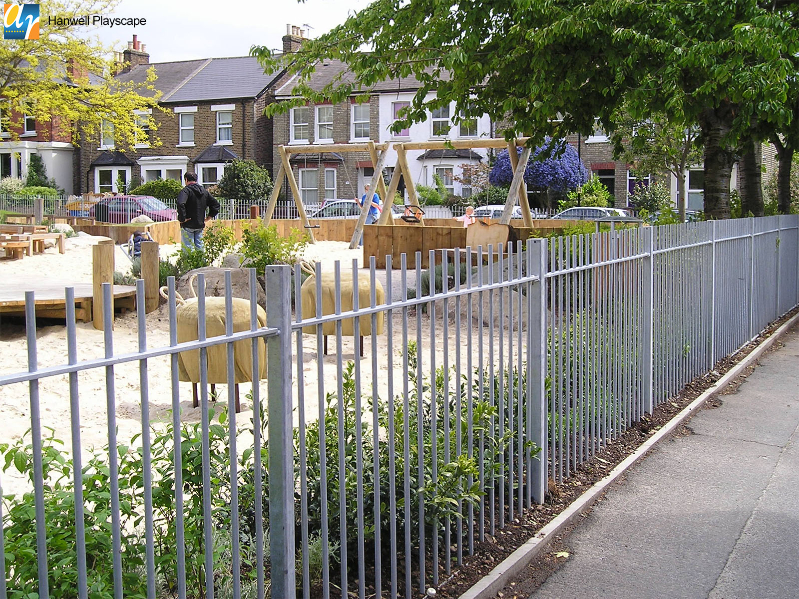Hanwell playscape standard vertical bar railings