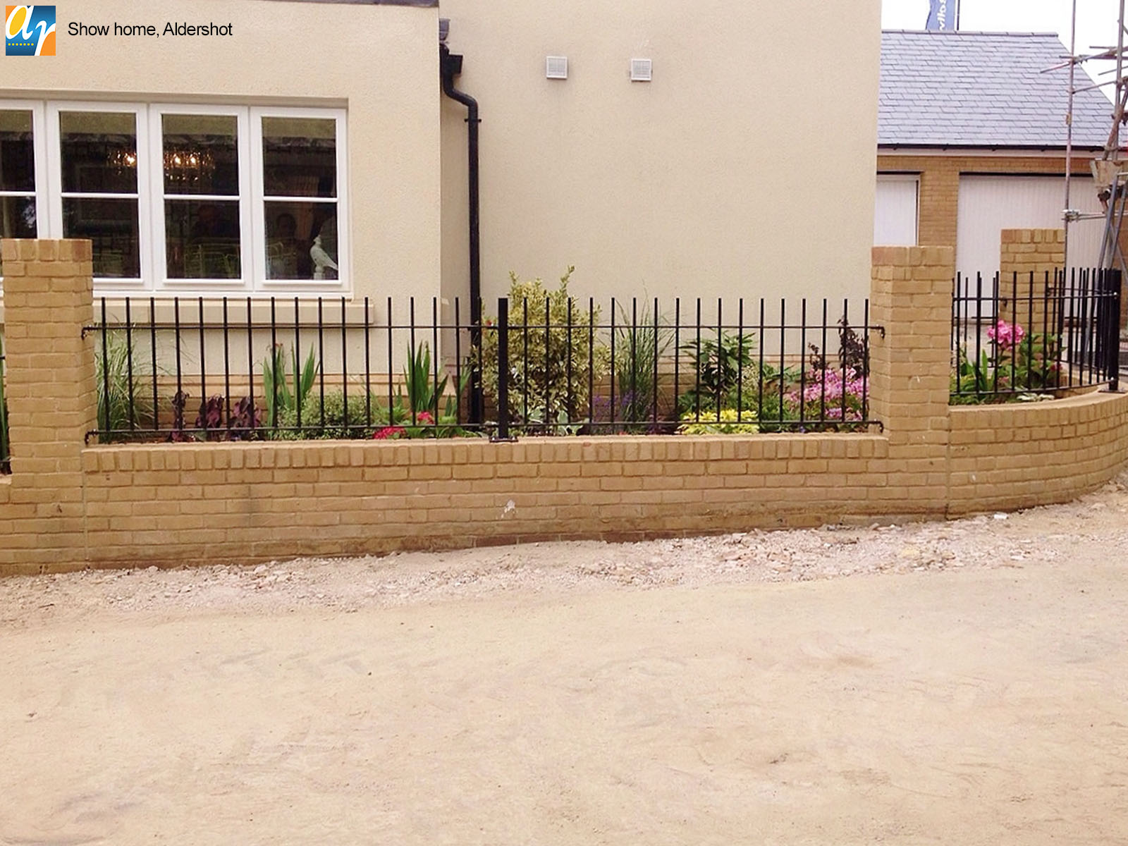 Aldershot show home standard vertical bar railings